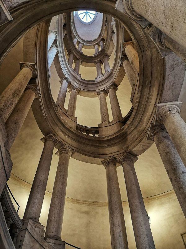 Francesco Borromini, Spiral Staircase, Palazzo Barberini, Rome