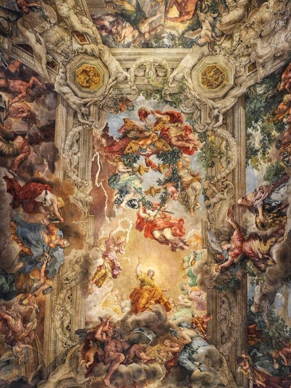 Pietro da Cortona ceiling, Palazzo Barberini, Rome